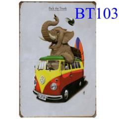 ☆ブリキ看板☆ Pack the Trunk エレファント [BT103]