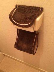 ニトリで購入☆丸洗い可!トイレットペーパーホルダー/ブラウン