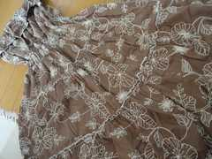 【お嬢様系】 刺繍デザイン膝丈フレアワンピ