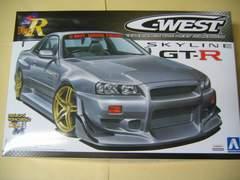 アオシマ 1/24 Sパッケージ・バージョンR No.85 C-WEST R34 GT-R 新品