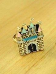 新品ゴスロリ姫系アンティーク調メルヘンのお城リング指輪