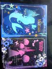 Disney プリンセスアリエル/オーロラシルエット ボリュームメモ未使用2冊セット