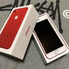 iPhone7 RED 128GB au