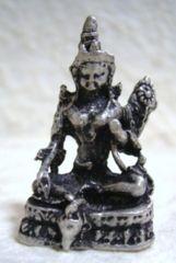 ☆即決☆白銅製 ターラー菩薩 豆仏像