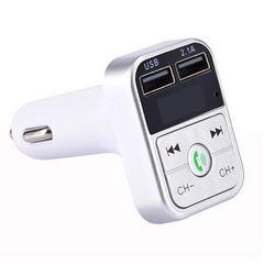 【新品】FMトランスミッター Bluetooth 車載 シガーソケット 銀
