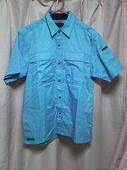 新品ワークマン作業服半袖水色ブルー夏服上着作業着仕事着会社工場・送込