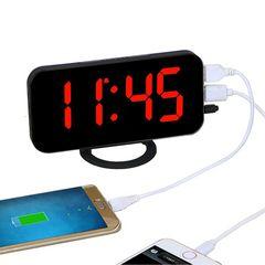 電子LEDデジタルデスククロック 置き時計レッドライト