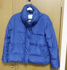 マウジーダウンコート 青 サイズ2