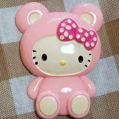 BIGパーツ☆着ぐるみ(ピンク)リボンぱんだキティ☆約8cm