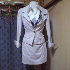 FTラメ ミニスカート スーツ・セットアップ 4点セット ネクタイ付き