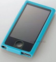 iPod nano 7th シリコンケース カバー フィルム 透明 ブルー N