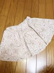 薔薇柄インナー付スカート140