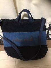 ニコアンド紺系2wayトートバッグ斜めがけ美品レタパOK