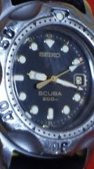 SEIKOSCUBA200m防水腕時計スキューバダイバーウォッチ