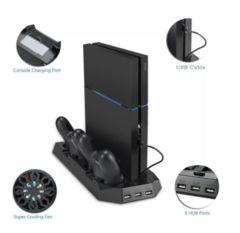 PS4 スタンド 2台充電 冷却ファン付き
