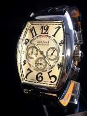 高級感ある大人の腕時計★トノウ型★Club Face2黒
