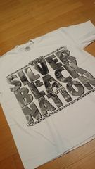 LA直輸入 SILVER&BLACK Tシャツ 白ホワイト サイズ4XLXXXXL→5XL位 G�A