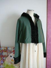 ホコモモラ(シビラ)Aラインフードボアジャケット40サイズ