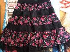 ( ^ω^ )花柄レーススカート*Mサイズ*
