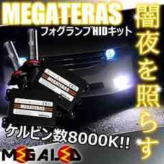 Mオク】ステップワゴンRF1/2系後期/フォグランプHIDキット/H1/8000K