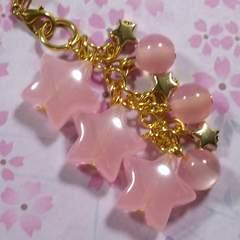 【handmade】星ゾラ*strap(桃色)