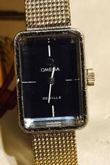 良品オメガデビルレディース時計手巻き式シルバーブレス