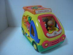 ★アンパンマン知育おもちゃ 車型はめ歯車、難あり