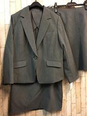 新品☆19号3Lスカート2種付きスーツお仕事オフィスグレーj714