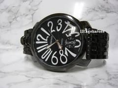 新品 定形外可能 腕時計 48mm ブラック/ガガミラノ好きに