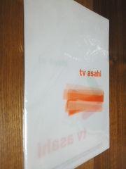 テレビ朝日 クリアファイル 2枚組 オレンジ グリーン