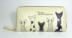猫 長財布