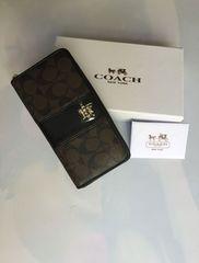 正規品  COACH シグネチャー 長財布 52859 濃茶