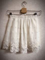 刺繍レーススカート☆160
