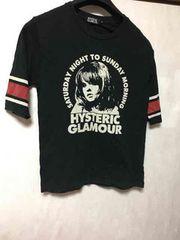 ヒステリックグラマー/五分丈/Tシャツ/ブラック/S