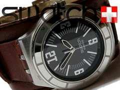 良品 1スタ★スウォッチ/Swatch【スイス製】極太ベルト 腕時計