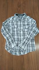 Mサイズ白黒チェックシャツ��865