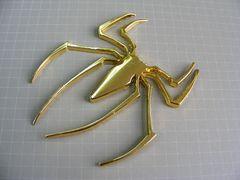 ● クモ クモ!CHROME GOLD仕様 エンブレム メタル製 ● 新品
