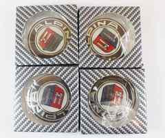 互換品 BMW ALPINAロゴホイールセンターキャップ 4個