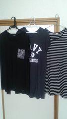 まとめ売り♪大きいサイズTシャツワンピ3L〜4L☆中古美品