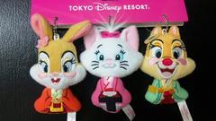 ディズニーTDL/TDS/ひな祭り.ぬいぐるみバッジ/クラリス/マリー/ミスバニー
