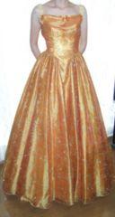 高級ゴールデンオレンジ9号ウェディングドレスカラードレス