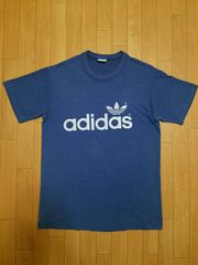 80s USA製 adidas ロゴ 両面 Tシャツ S ヴィンテージ