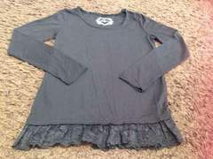 シンプル真っ黒ロングTシャツ   Mサイズ