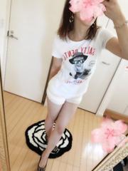 men's Mサイズ 写真プリント白Tシャツ★