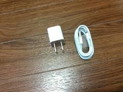 iphone充電器ACアダプター、lightningケーブル純正品 新品未使用