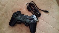 美品 PS3コントローラーUSBケーブル付 ブラック