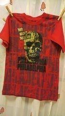 新品◆キラキラゴールドドクロ◆半袖Tシャツ◆160スカル
