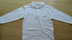 白 長袖ポロシャツ 130