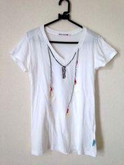 ユニクロ×キッドソン◆ネックレスプリント Tシャツ M