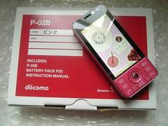 *P-02B/P02B* ほぼ新品未使用品*。+゜☆゜+。★。+ ピンク